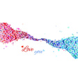 Colourful hearts wave vector image