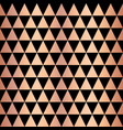 copper foil triangle geometric seamless pattern vector image