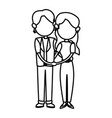 couple family mom and dad together relation vector image