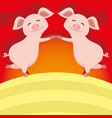 cute pigs standing vector image vector image