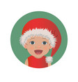 cute surprised baby santa claus emoticon vector image vector image