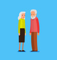 elderly couple in flat style vector image