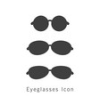 eyeglasses icon set vector image