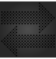 Fine Dotted Black Arrows vector image