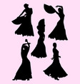 flamenco dance silhouette vector image vector image