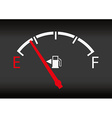 gas gage status vector image vector image