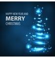 Glowing Christmas tree Christmas tree vector image vector image