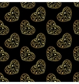 gold hearts seamless vector image vector image