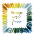 grunge framegrunge background vector image