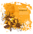 Hand drawn sketch honey background vector image vector image