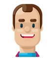 happy balding man flat icon vector image vector image