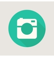 Hipster photo or video camera icon minimalism vector image vector image