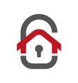 home protection icon house in form a door vector image