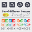 Id card icon sign Big set of colorful diverse vector image vector image