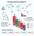 Infographics set Rectangle columns Prismatic vector image vector image