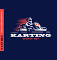 kart racing winner vector image