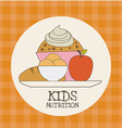 kids nutrition vector image