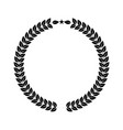 laurel wreath for your logo or symbol design flat vector image