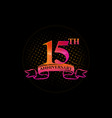 logo 15th anniversary with a circle