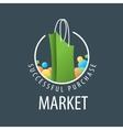 logo shopping bag vector image vector image