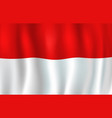 monaco national flag red and white strips vector image