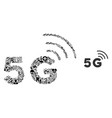 mosaic 5g network from health care symbols vector image vector image