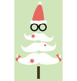 Moustaches Christmas Tree01 vector image vector image