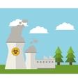 nuclear plant energy power landscape vector image vector image