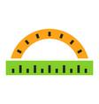 protractor ruler icon school vector image
