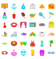 public forest icons set cartoon style vector image vector image