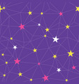 purple stars network seamless pattern vector image vector image