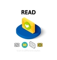 Read icon in different style vector image vector image