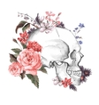 roses and skull day the dead vector image vector image
