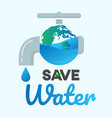 save water graphic design or background greeting vector image vector image