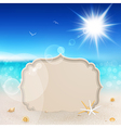 seascape and tablet vector image vector image
