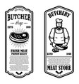 set meat store flyers design element vector image vector image