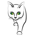 simple cat muzzle vector image vector image
