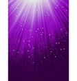 Snow and stars are falling on purple rays EPS 8 vector image vector image