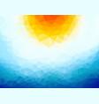 sun over the ocean triangular background vector image vector image