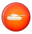 Tank icon flat style vector image vector image