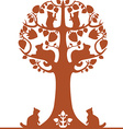 tree with cats vector image vector image