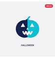 two color halloween icon from birthday party and vector image vector image