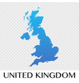 united kingdom map in europe continent design vector image