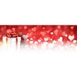 Valentines background with gift vector image vector image