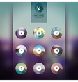 web and mobile interface template icons blurred vector image vector image