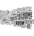 Why room rentals text word cloud concept vector image