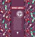 wine menu card vector image vector image