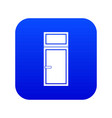 wooden window icon digital blue vector image vector image