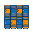 lockers icon image vector image