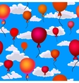 balloons flying vector image